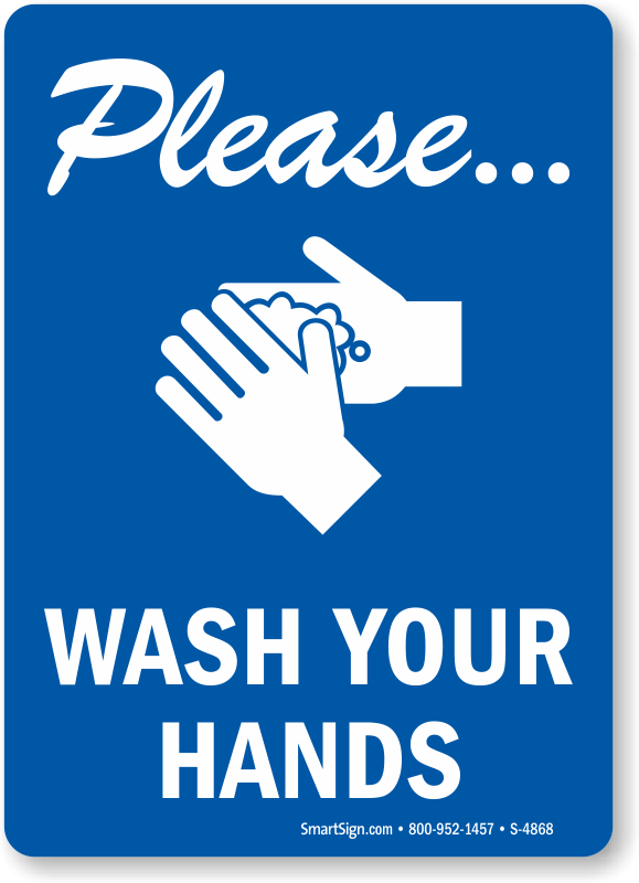Please Wash Your Hands Vertical Sign Free Pdf Sku S 4868