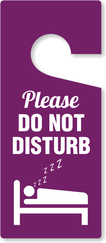 Please Do Not Disturb Door Hanging Tag Free Shipping