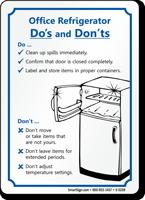 Refrigerator Cleanup, Fridge Cleaning Sign, SKU: S-5269