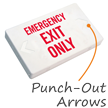 LED Exit Sign with Battery Backup