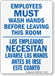 Bilingual Washing Hands Sign