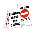 Reversible Fold-Ups® Floor Sign - Lightweight Plastic