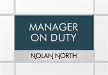 Custom Nexus Manager On Duty Sign - Includes Nameplate, 8