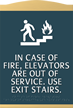 Esquire Stairway Sign, 12.625in. x 8.5in.