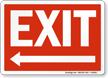 White Arrow Exit Sign