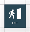 Nexus Regulatory EXIT Sign with Braille, 11.625