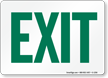 Go-on-Green Exit Sign