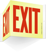 Glow-in-Dark Projecting Exit Sign, 8in. x 9in.