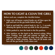Select-a-Color™ Engraved Grill Etiquette Sign