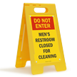 FloorBoss XL™ Bathroom Floor Standing Sign
