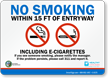 No Electronic Cigarettes Sign