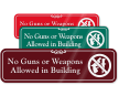 ShowCase™ Weapon Rules Sign