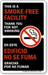 Bilingual No Smoking Window Decal