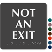 6in. x 6in. TactileTouch™ Exit Sign with Braille