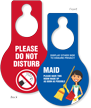 Pear Shaped Plastic Door Hang Tag (2-Sided)