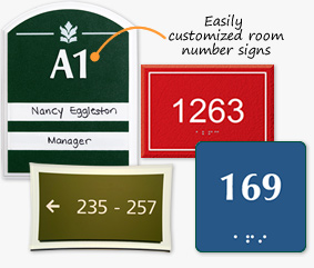 Room Number Signs  sc 1 th 207 : door placards - pezcame.com